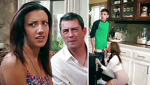 Super-Naughty Ma deep throating enormous man sausage of daughter-in-law's BEAU