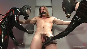 Straight stud with a big fat cock taken and milked by perverted aliens
