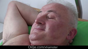 Busty young nurse bonking sick old man be useful to cock health