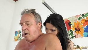 Grandpa at the doctor fucks hot young nurses in age-old young