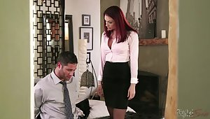Redhead boss Chanel Preston having astonishing sex with her employee
