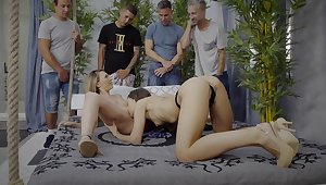 Hatless girls show their lust for pussy in a hot teaser