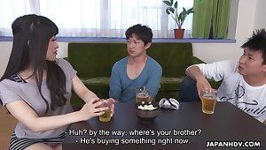 Emotional Japanese lady roughly big booty Yui Kyouno deserves some good banging