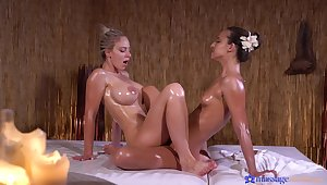 Amirah Adara is stoked for kneading in all directions doting doll Nathaly Cherie