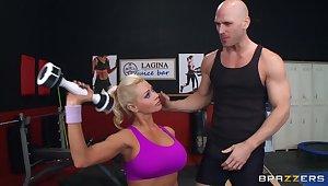 Shelter blonde MILF Nikita Von James moans close to pleasure during sex
