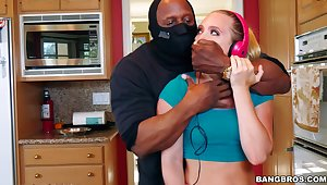 Big irritant chick AJ Applegate gets fucked by a massive black dick
